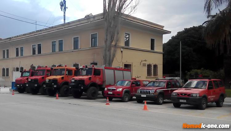 Greek Fire Fighter Trucks Nafplio