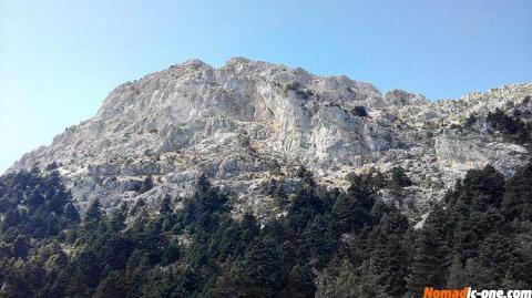 Artemisio Mountain Peak near Nafplio in Greece.